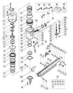 NR83A - Pneumatic Framing Nailer Parts schematic