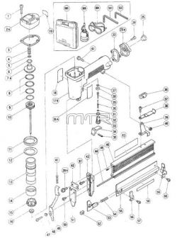 NT45A - Pneumatic Brad Nailer Parts schematic