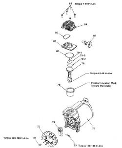 919.165190 PUMP - Portable Oil-Free Air Compressor Pump Repair Parts schematic