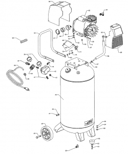 921.164710 - Portable Air Compressor Parts schematic