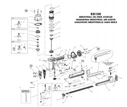 SX150 - Pneumatic Stapler Parts schematic