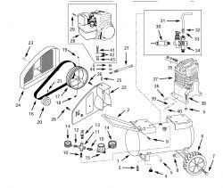 4B220B - Portable Gas Air Compressor Parts schematic