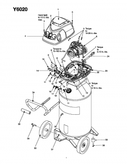 Y6020-WK, Y6020WK - Air Compressor Parts schematic