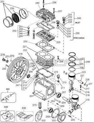 DeWalt Compressor Pump Parts